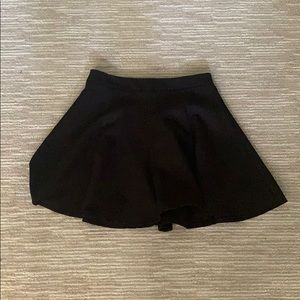 Simple black flowy skirt